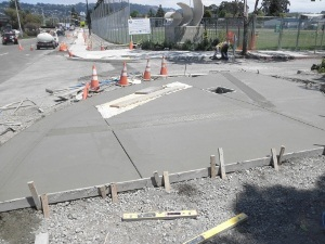 Construction - OV curb ramp