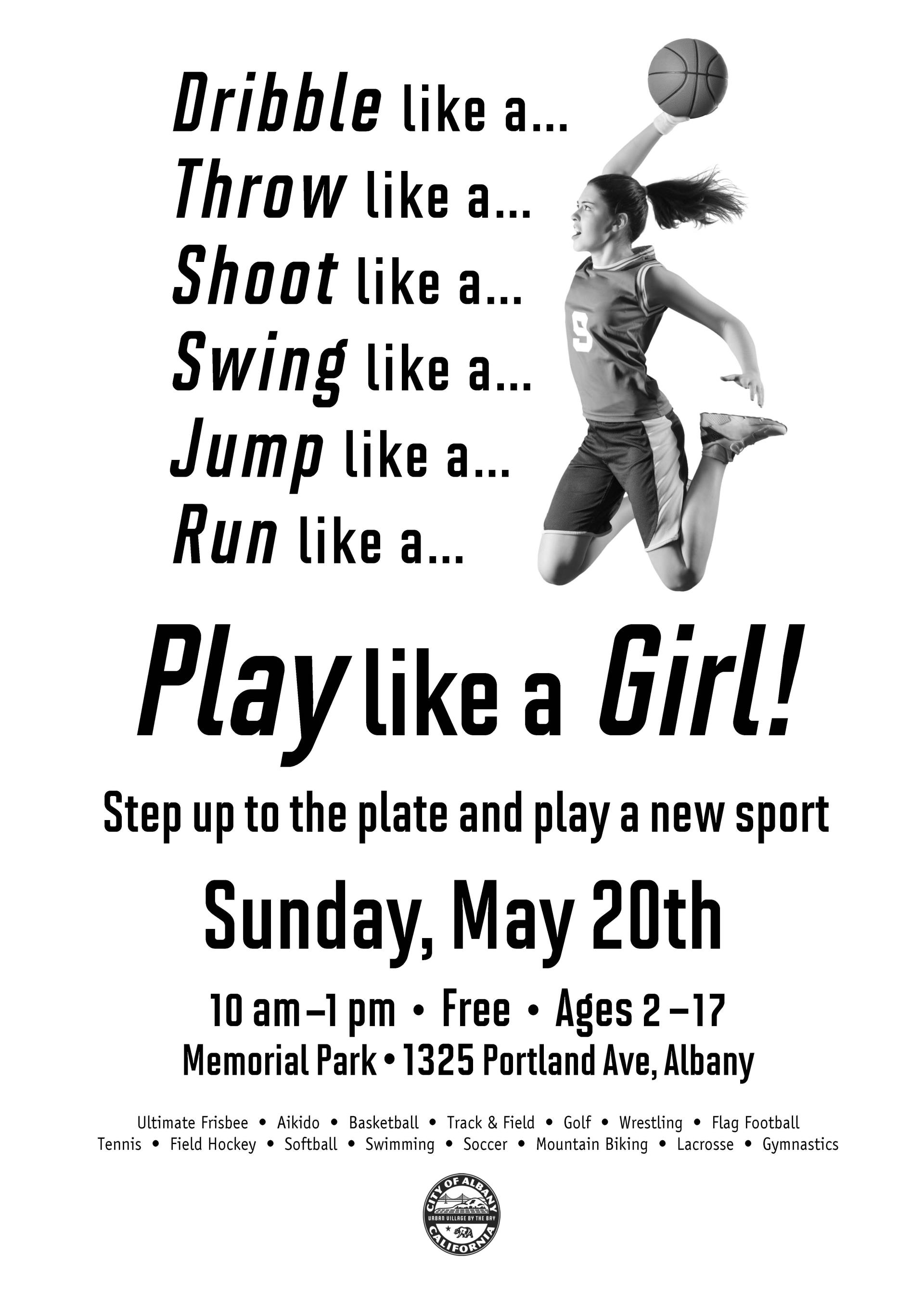 Play Like A Girl Event Poster