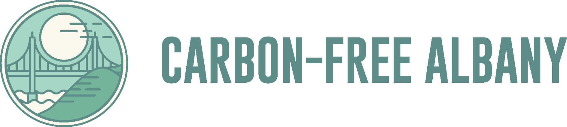 Carbon-Free Albany Long Logo PNG
